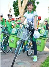 Ride bicycle to response World Environment Day